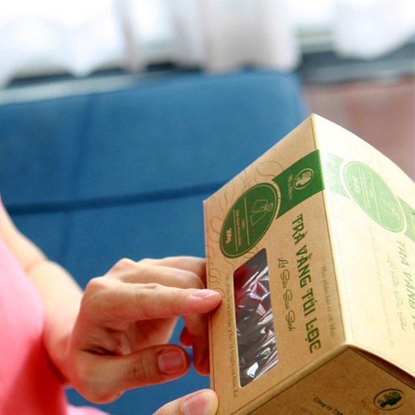Trà vằng túi lọc lợi sữa - Giảm mỡ bụng Wonmom nhập khẩu