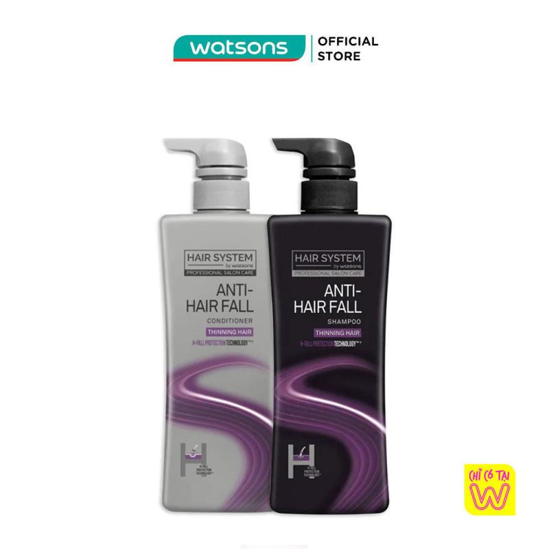 Combo Hair System By Watsons Anti-Hair Fall Ngăn Ngừa Rụng Tóc (Dầu Gội 500ml Tặng Dầu Xả 500ml) giá rẻ