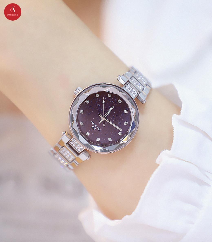 Đồng hồ nữ Bee sister 1571 cao cấp 32mm ( Bạc/ Vàng) + Tặng hộp đựng đồng hồ thời trang & Pin bán chạy
