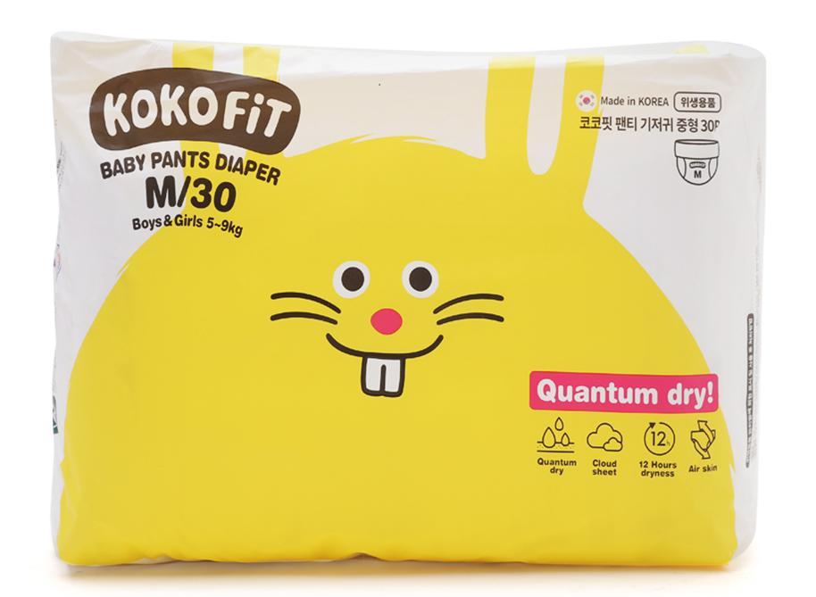 Tã/Bỉm Quần KOKO FiT Size M (Thỏ) 30 Miếng/bịch Dành Cho Bé Từ 5 - 9kg Đang Ưu Đãi Cực Đã
