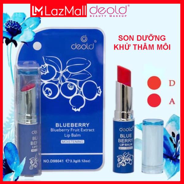 Son Dưỡng Khử Thâm Có Màu Deold Blueberry Lip Balm (màu Đỏ tươi) 3.3g giá rẻ