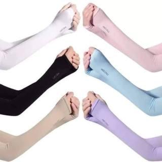 Găng tay chống nắng nam nữ chống tia UV xỏ ngón được làm mát da Hàn Quốc chính hiệu (nhiều màu 2 ống tay) - Tươi Shop 1