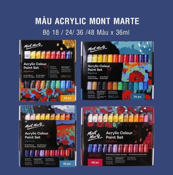 Màu Acrylic Mont Marte theo bộ 36 màu - tuýp 36ml