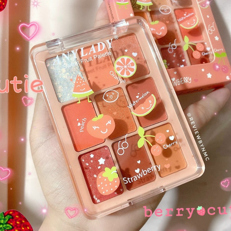 Phấn mắt Any Lady Sweet Fruit Strawberry 9 ô [giao ngẫu nhiên] nhập khẩu