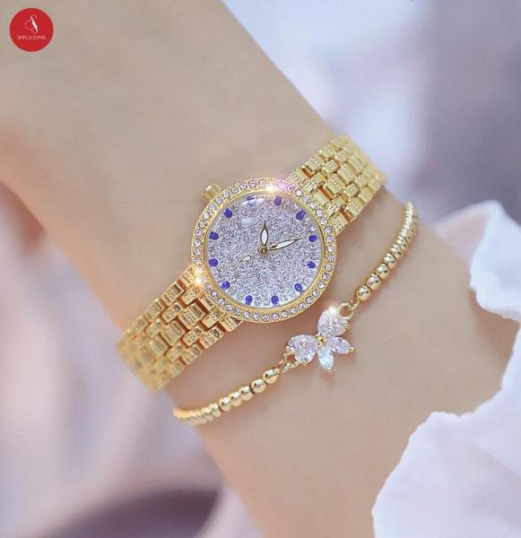 [HCM]Đồng hồ nữ Bee sister 1598 cao cấp 26mm ( Vàng/ Bạc ) + Tặng hộp đựng đồng hồ thời trang & Pin