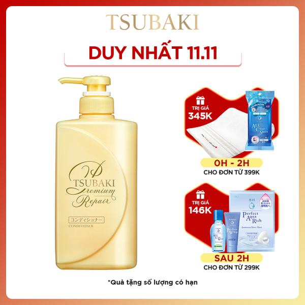Dầu xả phục hồi ngăn rụng tóc Tsubaki premium repair conditioner 490ml