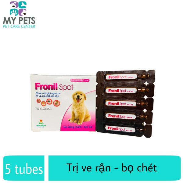 Thuốc nhỏ sống lưng trị ve, bọ chét chó mèo - Fronil spot
