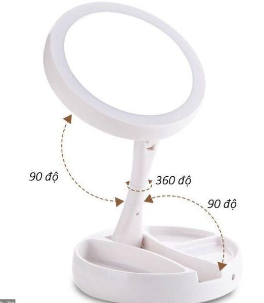 Gương Trang Điểm Để Bàn Gấp Gọn Có Đèn LED giá rẻ