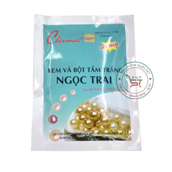 Kem và bột tắm trắng Ngọc trai Chenmai 150g (Xanh - Trắng)|Siêu thị trực tuyến 247