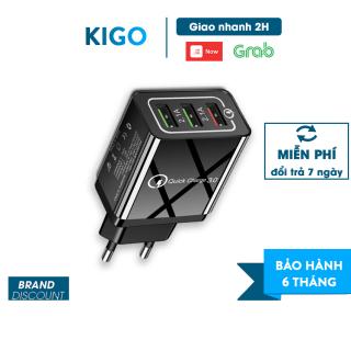 Củ sạc nhanh Piman chuẩn Quick Charge 3.0 18W - Củ sạc tích hợp mọi loại thiết bị và điện thoại KIGO K212CL thumbnail