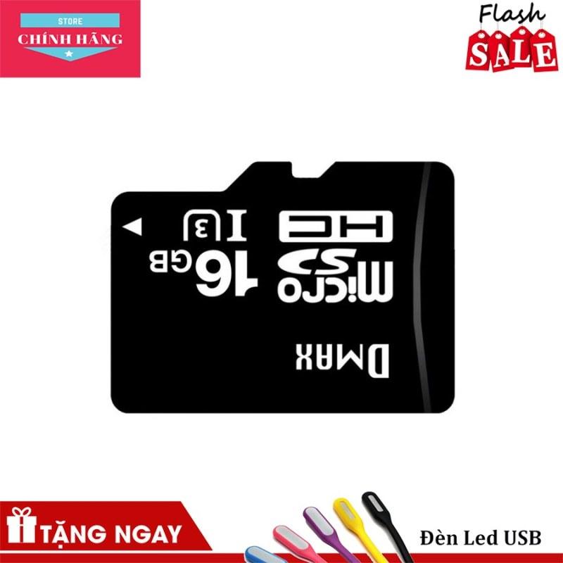 Thẻ nhớ 16Gb tốc độ cao U3, up to 90MB/s Dmax Micro SDHC + Đèn LED USB