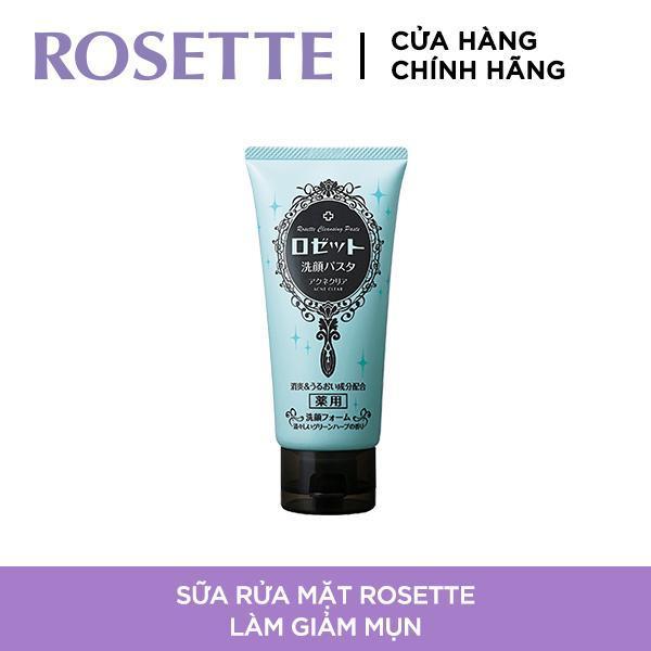 Sữa Rửa Mặt Làm Giảm Mụn Rosette Face Wash Pasta Acne Clear 120g
