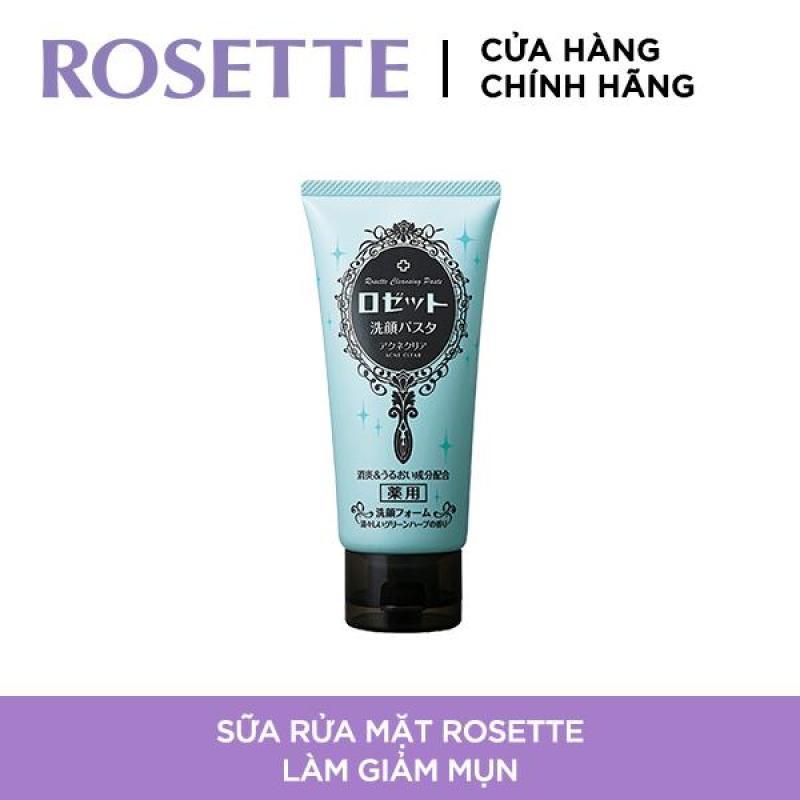 Sữa Rửa Mặt Làm Giảm Mụn Rosette Face Wash Pasta Acne Clear 120g giá rẻ