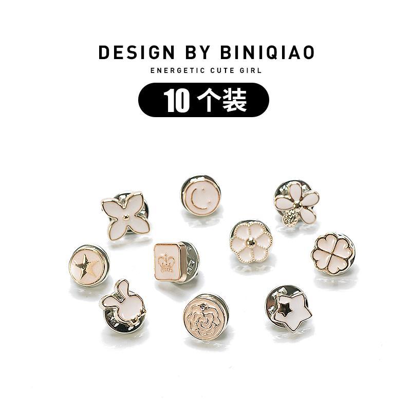 01e527e1b3e Japanese Korean Pearl Anti-Exposure Collar Button Brooch Decoration  Creative Versatile Cute Silk Scarves Brooch Accessories Female Pressure  Lapel ...