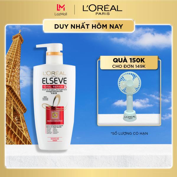 Dầu gội phục hồi tóc Loreal Paris Elseve Total Repair 5 Repairing Shampoo 650ml cao cấp