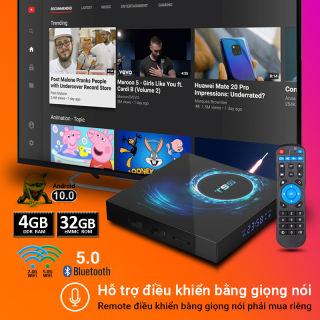 Android TV Box T95 độ phân giải 6K HDR, Ram 4GB, bộ nhớ trong lên tới 32GB, hỗ trợ bluetooth HĐH Android 10, cổng AV, 2 cổng USB, khe thẻ nhớ TF - Bảo hành 12 tháng