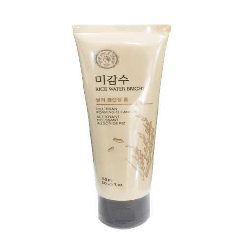 Sữa rửa mặt Gạo (có hạt) Rice Water Bright Rice Bran Cleansing Foam The Face Shop (150ml)