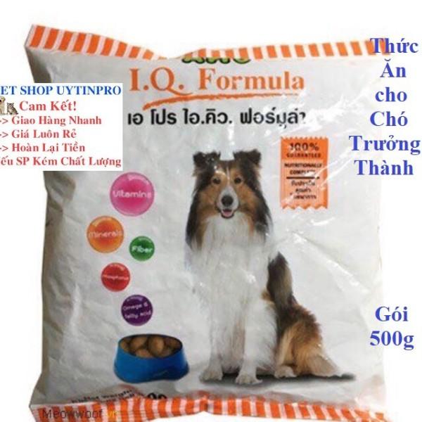 THỨC ĂN CHO CHÓ LỚN APro I.Q. Formula Dạng hạt Túi 500g Xuất xứ Thái lan
