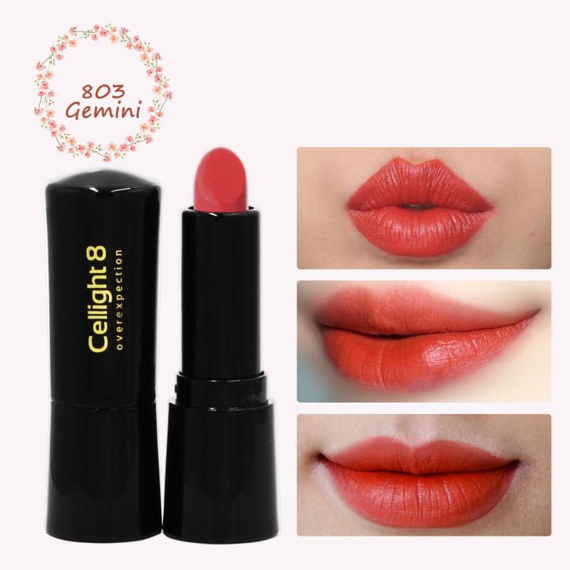 Son môi mini thiên nhiên không chì Cellight 8 Eco Lipstick - 803 - Gemini - Đỏ Tươi - (2g) giá rẻ