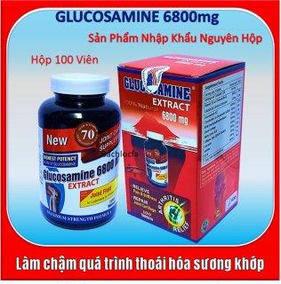 [Hộp 100 Viên Nhập Khẩu Mỹ] Viên Uống Bổ Xương Khớp Glucosamine Extract 6800mg- Giảm Đau Nhức Mỏi Khớp, Giảm Thoái Hóa Khớp thumbnail