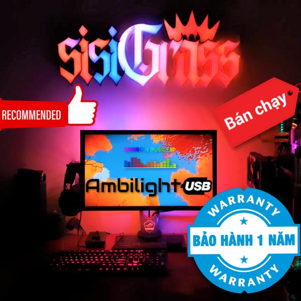 Bảng giá Đèn led Ambilight USB theo màu màn hình kết hợp 75 hiệu ứng nháy theo nhạc