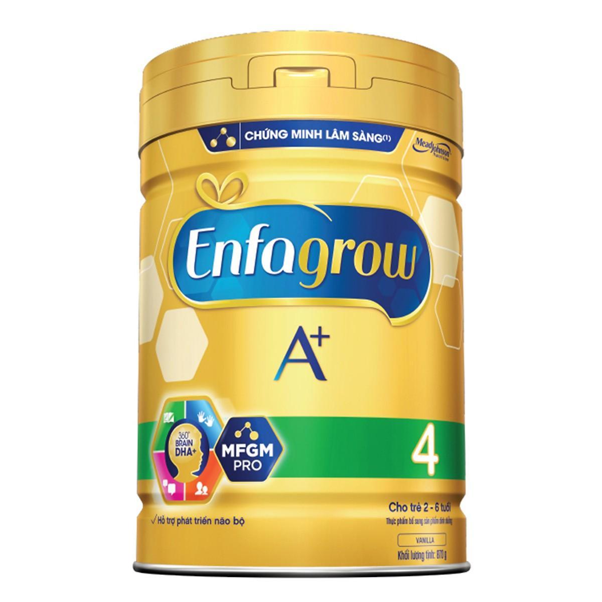 [Quà tặng không bán] Sữa bột Enfagrow A+ 4 870g