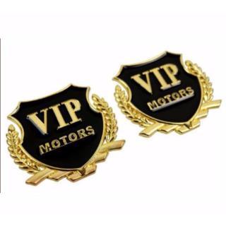 Bộ 2 logo huy hiệu vip sang trọng cho ô tô thumbnail