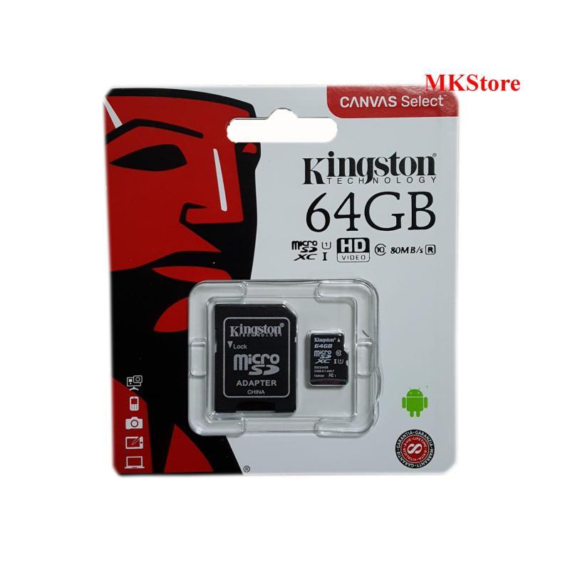 Thẻ nhớ Kingston Canvas Select 64Gb Micro SDXC Class 10 80Mb/s