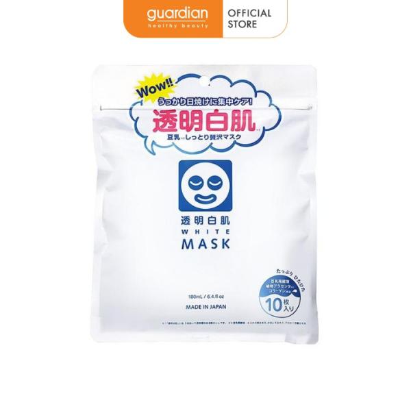 Mặt Nạ Dưỡng Trắng Shirohada Transparent White Mask N (180ml/10 miếng) giá rẻ
