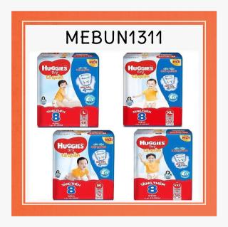 (Cộng 8 miếng)Bỉm Huggies quần M74+8L68+8XL62+8XXL56+8(đệm mây mới co dãn 4 chiều) thumbnail