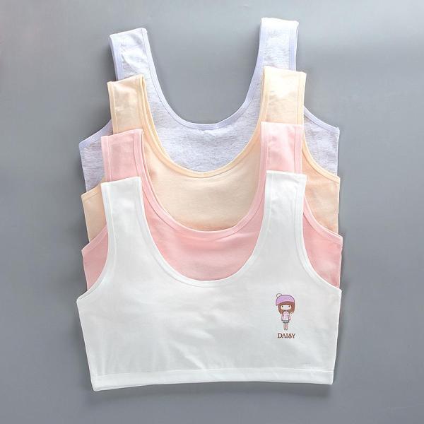 Giá bán Bộ 5 áo lót học sinh nữ vải cotton dây to bản thích hợp bé gái cấp 1, cấp 2 - ao lot hoc sinh nu