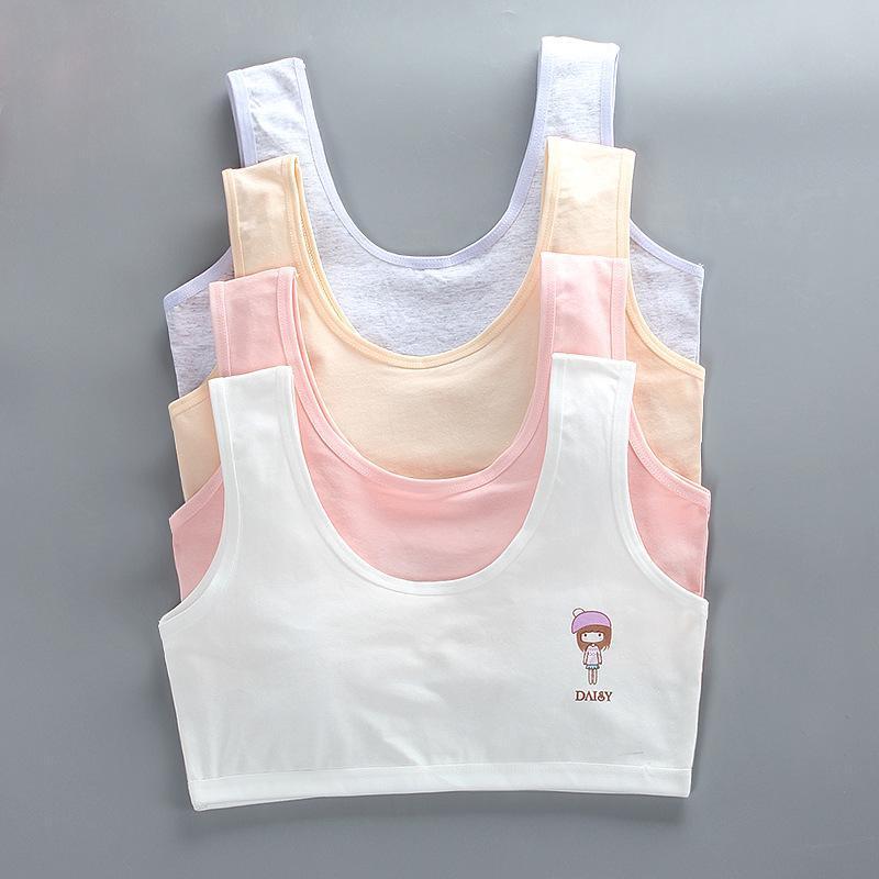 Nơi bán Bộ 5 áo lót học sinh nữ vải cotton dây to bản thích hợp bé gái cấp 1, cấp 2 - ao lot hoc sinh nu