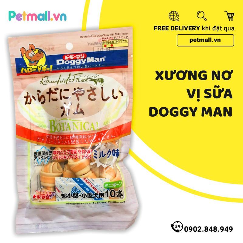 Xương nơ vị sữa Doggy Man - 10 cây