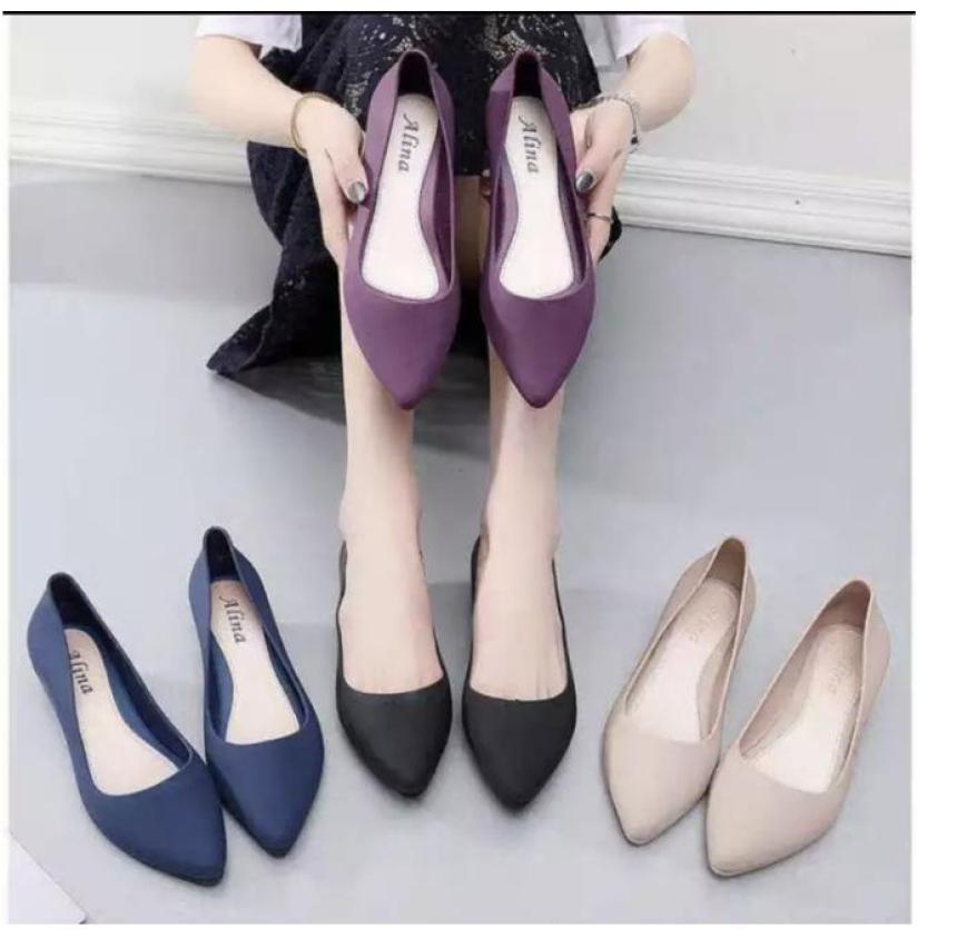 Giày bệt nữ, giày búp bê nữ nhựa dẻo đi mưa chống nước siêu tốt kèm clip thật giá rẻ