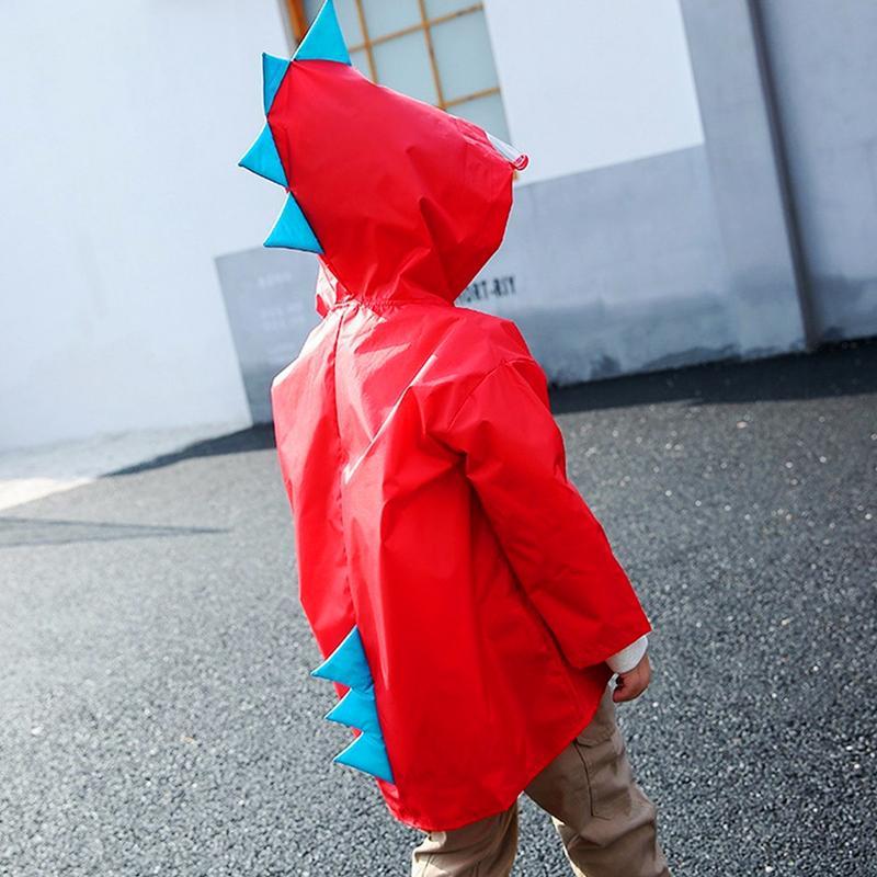 Áo mưa trẻ em hình khủng long đáng yêu cho bé 4-10 tuổi – AM003