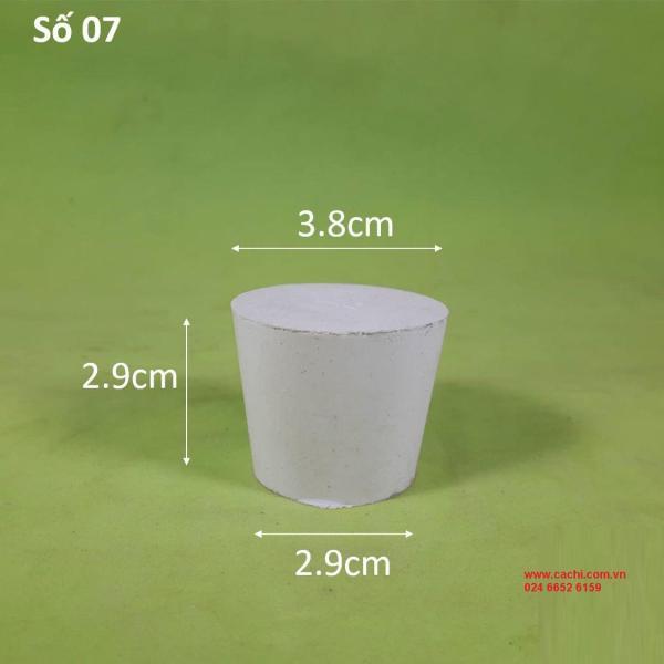 Nút cao su số 07, đường kính đáy lớn 3.8cm, đường kính đáy bé 2.9cm, chiều cao 2.9cm - NCS7 cao cấp