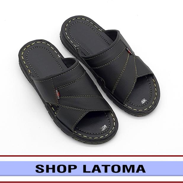 Dép da nam, Dép quai ngang nam thời trang Latoma TA5961 (Nhiều màu hoạ tiết Ngẫu Nhiên) giá rẻ