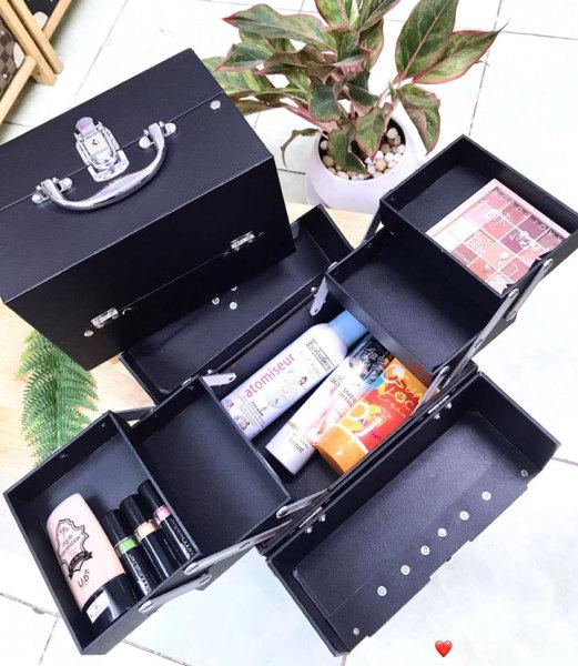 [Bảo hành 12th] Hộp trang điểm mini Linhshop LS2501 màu đen sang trọng giá rẻ