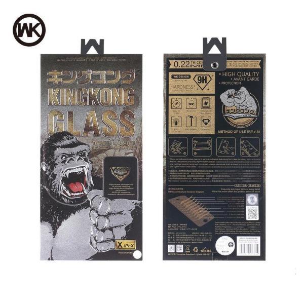 (KHÔNG HỘP) - Miếng dán kính cường Lực iphone WK KingKong dành cho Iphone 6, 6Plus, 6s, 6sPlus, 7, 7Plus, 8, 8 Plus, X, Xs, Xr, XsMax, ip11, ip11 pro, ip 11promax Hộp sắt cao cấp siêu ngầu - 2 màu đen và trắng tùy chọn