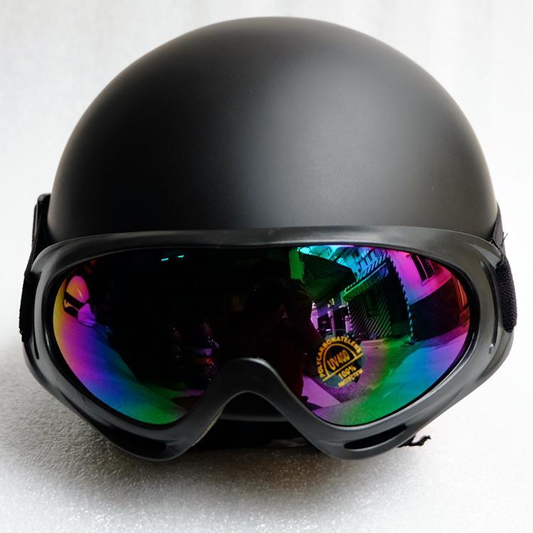 [HCM]Mũ Bảo Hiểm Nửa Đầu Kèm Kính UV - 17 Màu - Nón 1/2 Cam Kết Chất Lượng - ( Hình Thật - Hàng Cty)