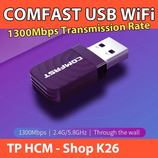 Bảng giá USB Thu WiFi COMFAST CF-812AC 1300Mbps Có Hỗ Trợ 5Ghz Phong Vũ