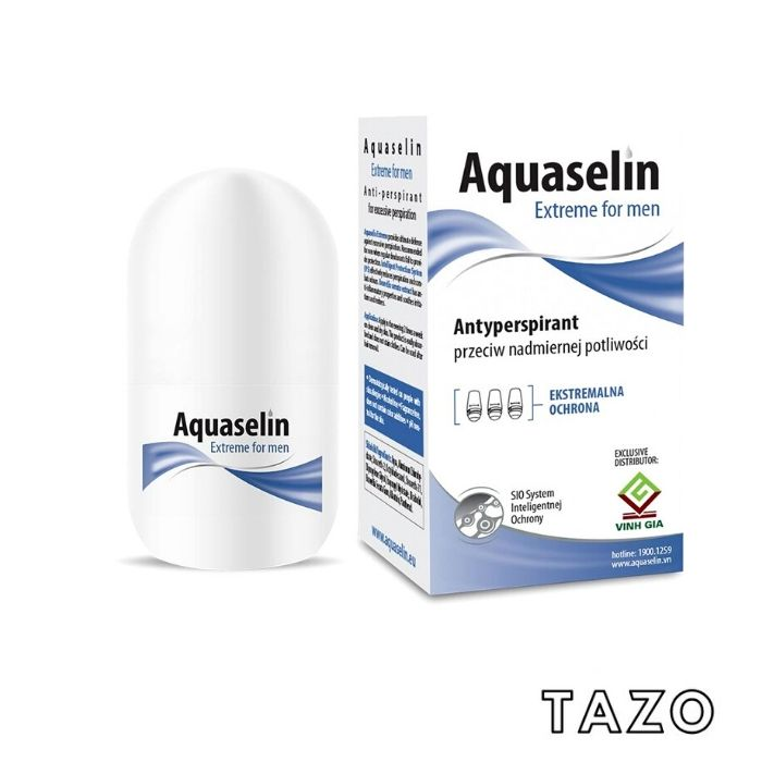 Aquaselin - Lăn nách ngăn tiết mồ hôi và khử mùi dành cho nam - 20ml