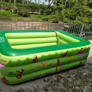 Bể bơi 3 tầng 2M1 đáy dày chống trượt và tặng kèm bộ vá bể thumbnail