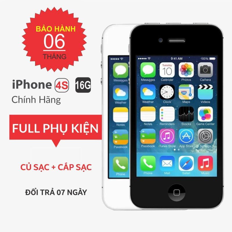 Điện thoại Apple iPhone 4S-16G QUỐC TẾ TẶNG CỦ SAC+ DÂY SẠC - Điện thoại smartphone giá rẻ -MR CAU