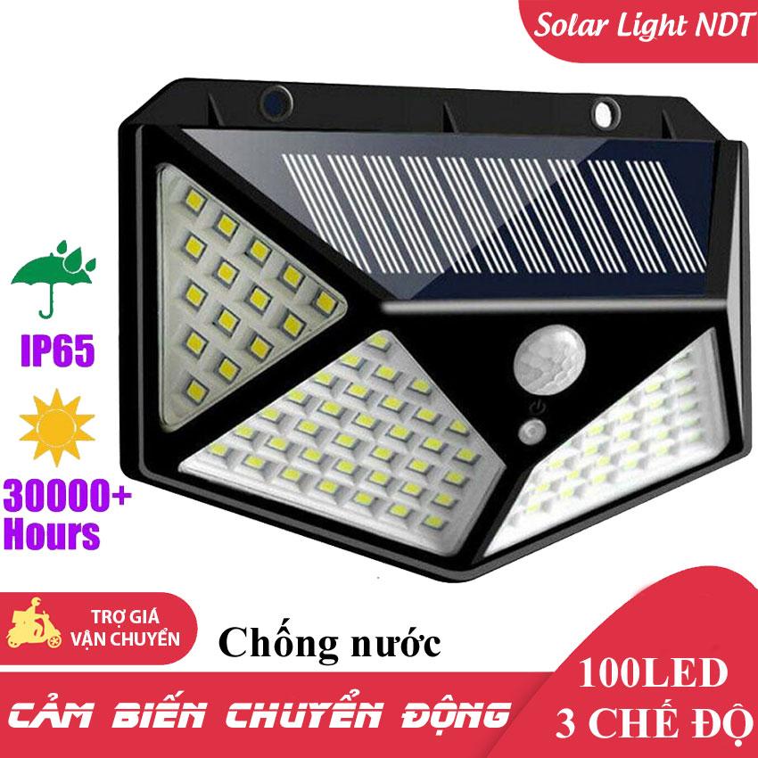 100 Led Đèn Năng Lượng Mặt Trời 100 LED Cảm Biến Chuyển Động 3 Chế Độ Tự Động Sáng Chống Nước [TrucNgan Shop]