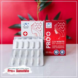 Viên uống chống nắng PRO SUNWHITE - SKIN WHITENING 60 vege capsules thumbnail