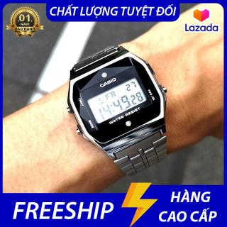 [KIM CƯƠNG] Đồng hồ điện tử casio A168 màn hình kim cương full LED thumbnail