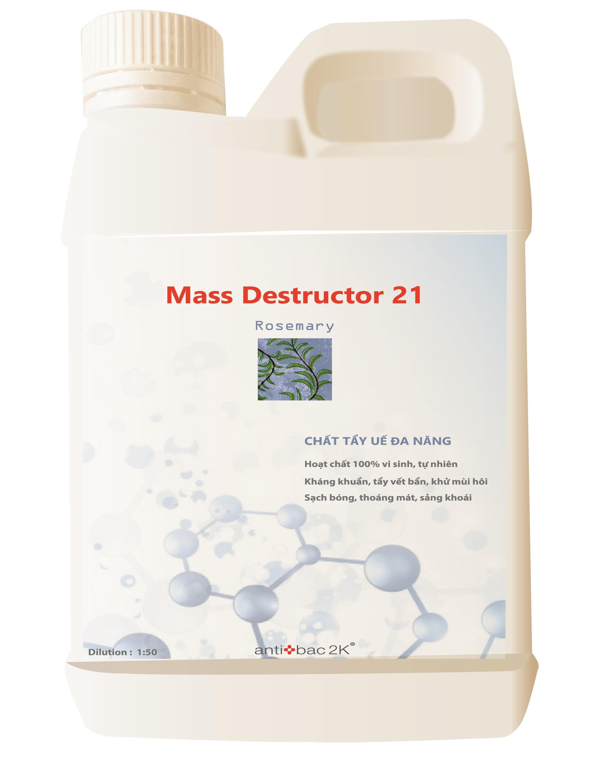 Hoạt Chất Lau Sàn đa Năng, Kháng Khuẩn Mass Destructor 21_rosemary By Airnergy.