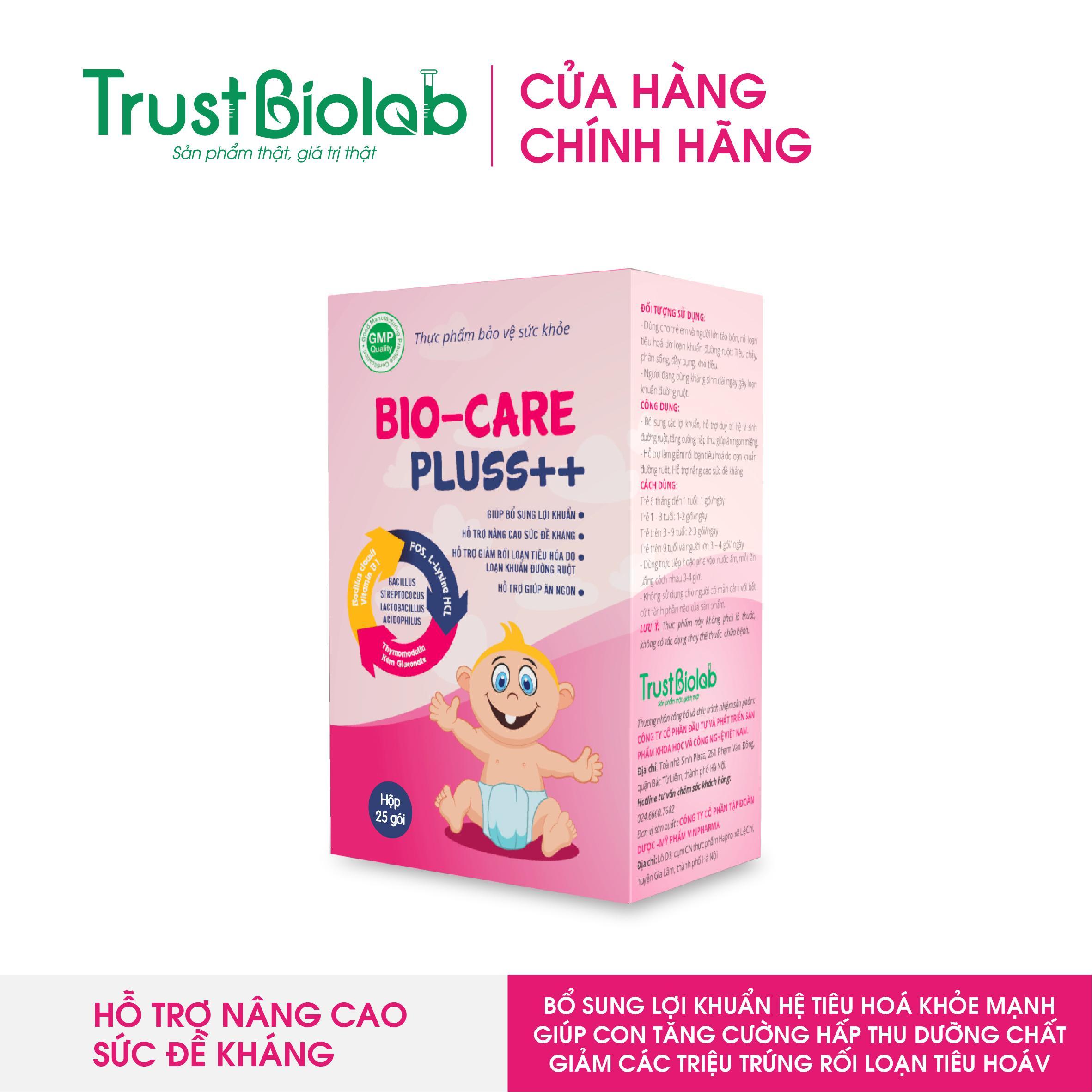 Men tiêu hoá (men vi sinh) BioCare Pluss++ cho trẻ biếng ăn, người lớn rối loạn tiêu hoá, giúp ăn ngon ngủ ngon, tăng cân cao cấp