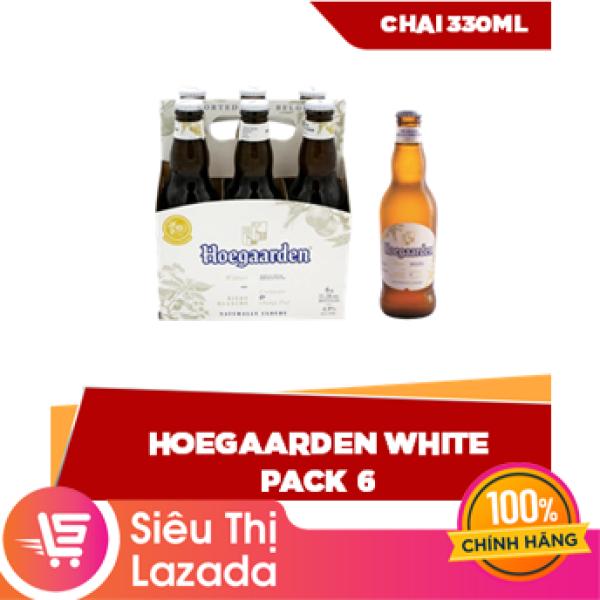 [Siêu thị Lazada] Lốc 6 chai 330ml Hoegaarden White - nguyên liệu hảo hạng hỗn hợp lứa mì và lúa mạch tươi mát cay nồng tinh tế